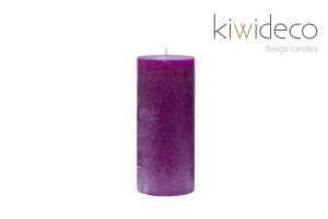 Rustic Candle Violet Pillar Rustic
