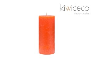 Orange Pillar Rustic Candle