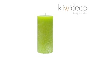 Candle Lime Green Rustic Unscented