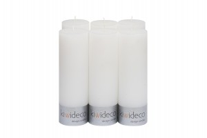 Candles Set of 6 65 x 80 mm