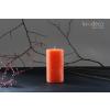 Handmade Orange Rustic Pillar Candles