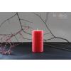 Handmade Red Rustic Pillar Candles