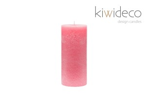 Rose Pillar Rustic Candle
