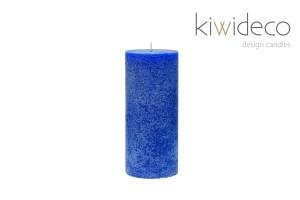 Candle Blue Pillar Rustic