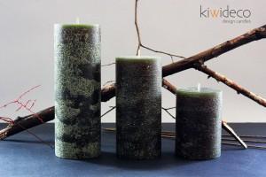 Håndlavet Oliven Grøn Rustik Søjlestearinlys Stor